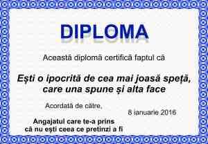 Diploma de ipocrita